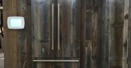 Reclaimed Barn Wood Fridge