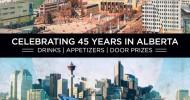 Celebrating 45 years in Alberta